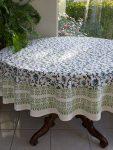Moonlit Taj round tablecloth