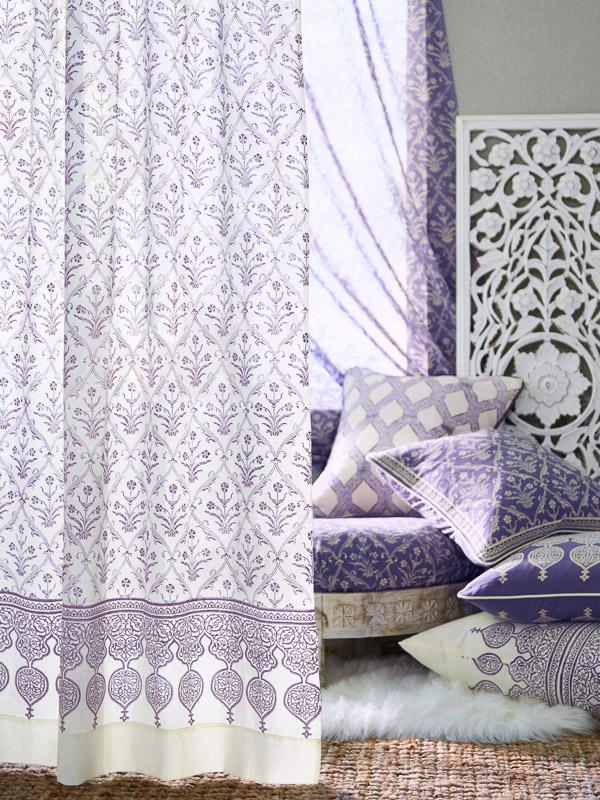 Purple Floral Bedding, Curtains & Table Linens