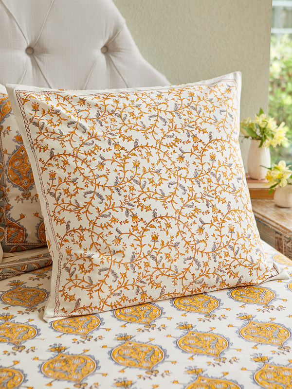 yellow throw pillow for country cottage style