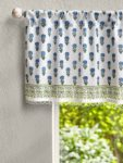 Complementary Print Beaded Valance