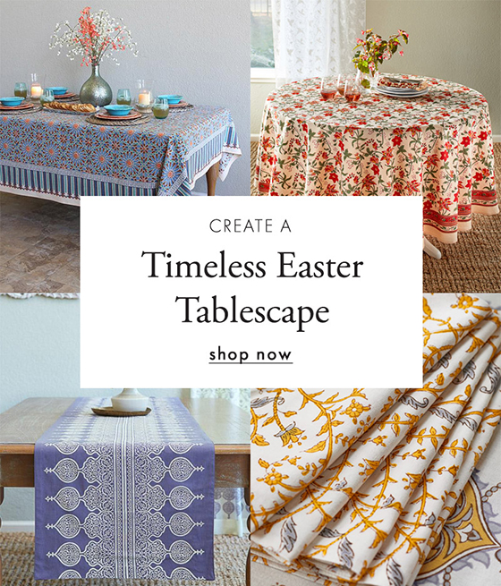 timeless easter tablescape