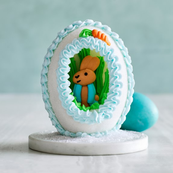 a sugar egg with Peter Rabbit for an Easter tablescape