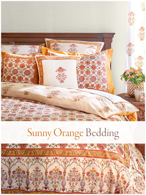 orange bedding and fall duvet covers