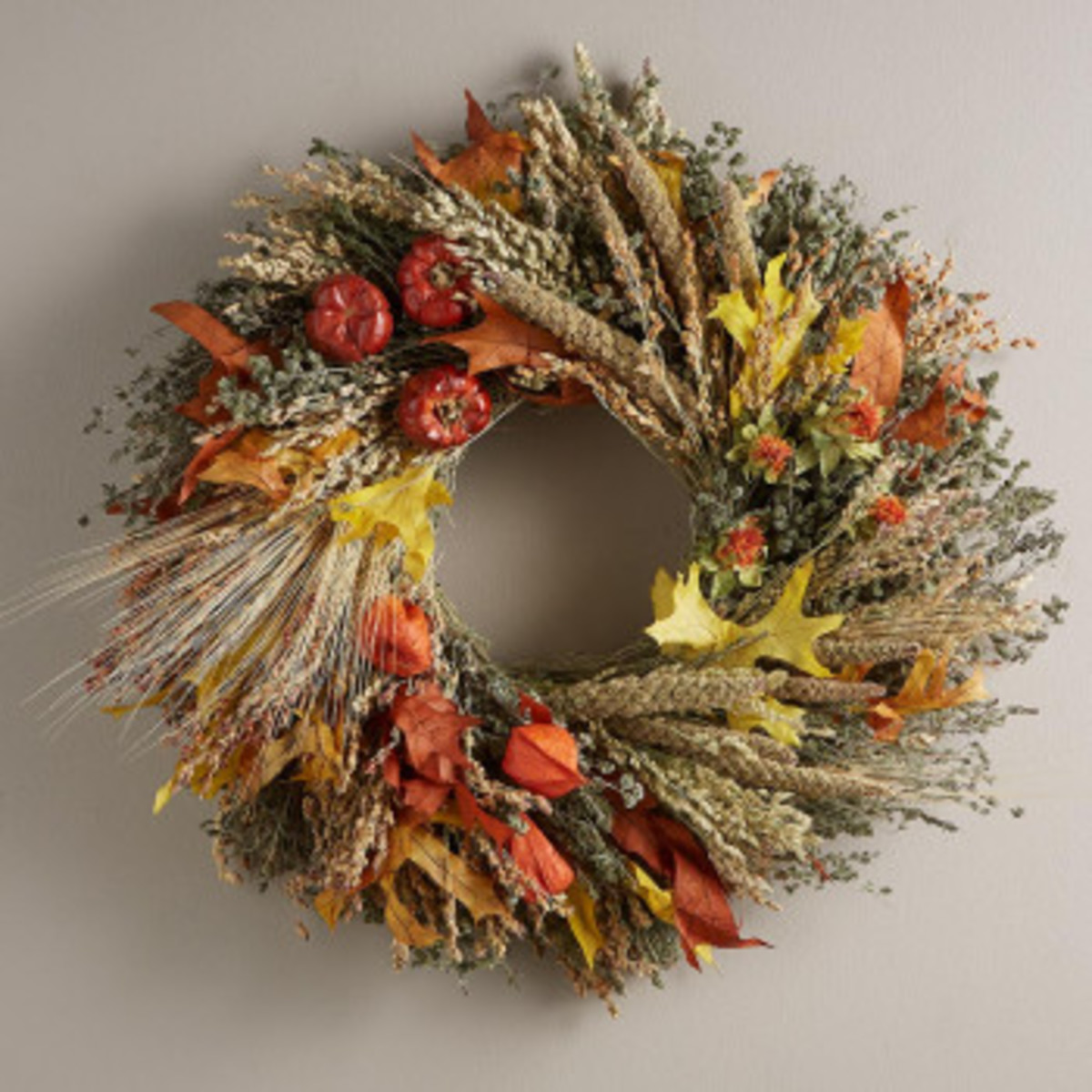Fall Harvest Wreath With Hanger