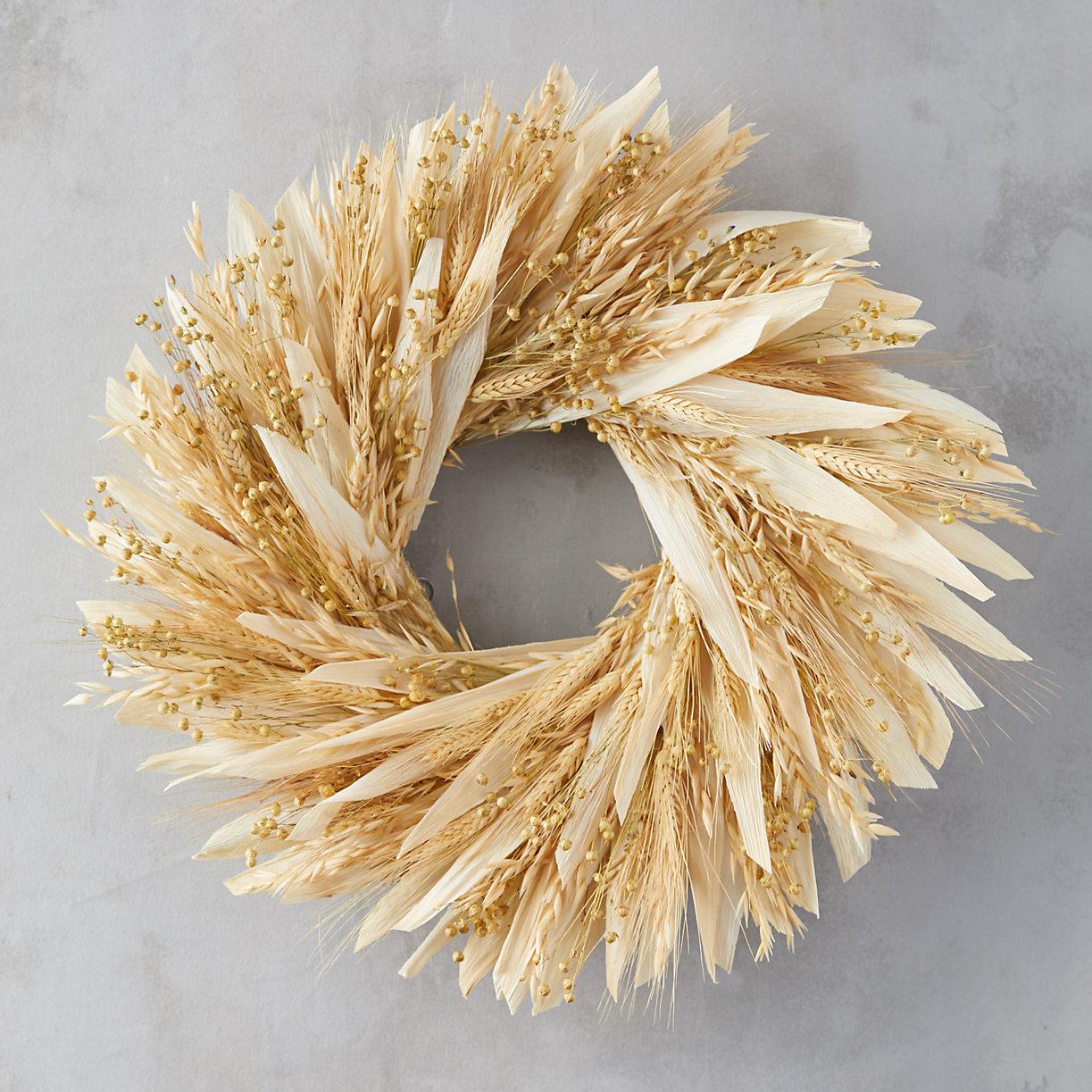 Flax + Wheat Wreath
