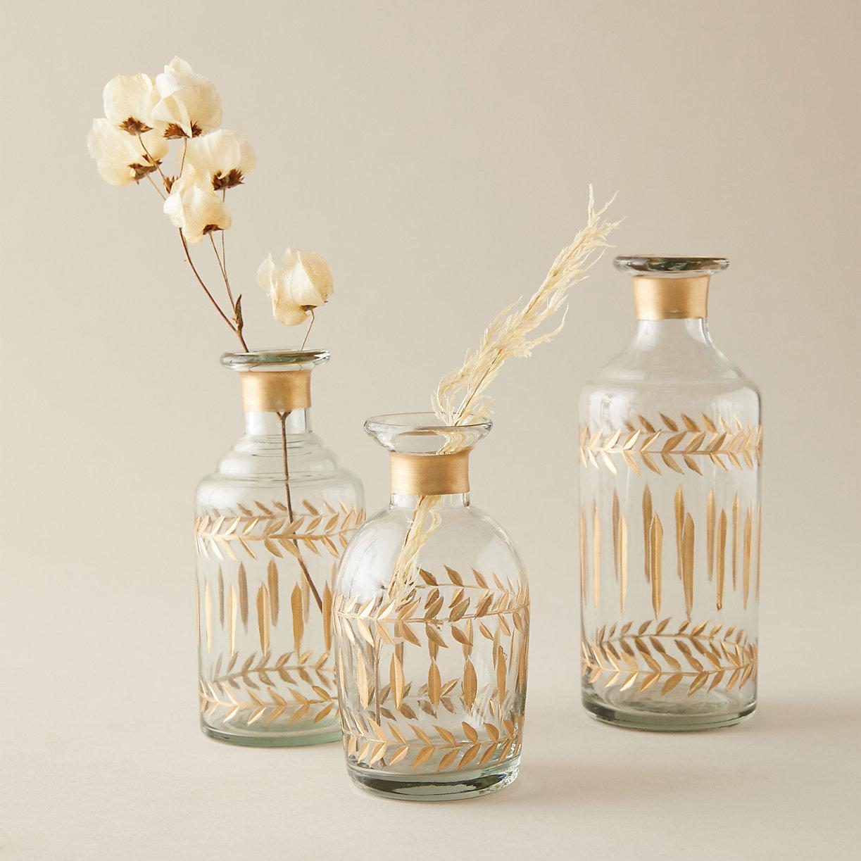 Gilded Etched Bottle