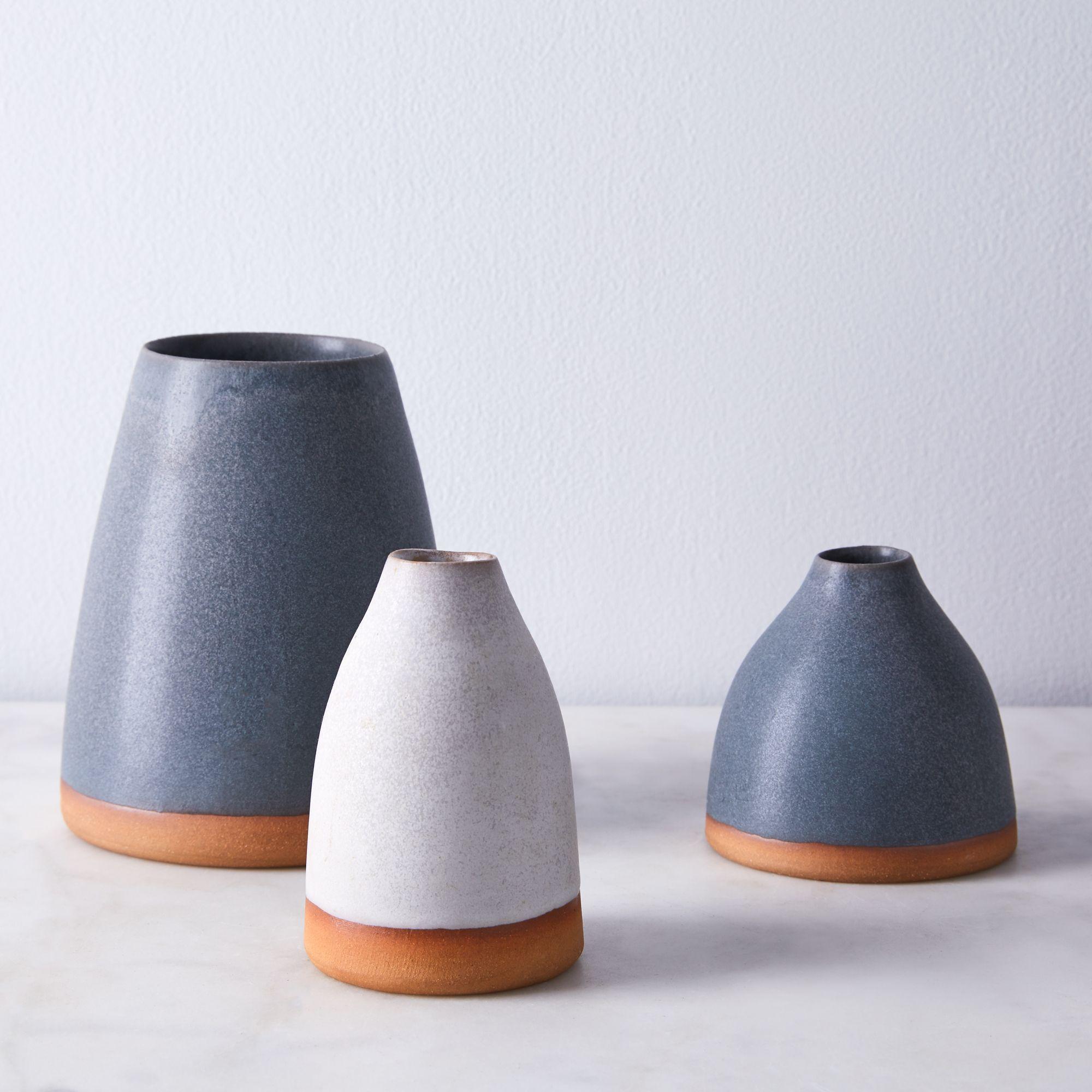 Handthrown Dipped Ceramic Vases