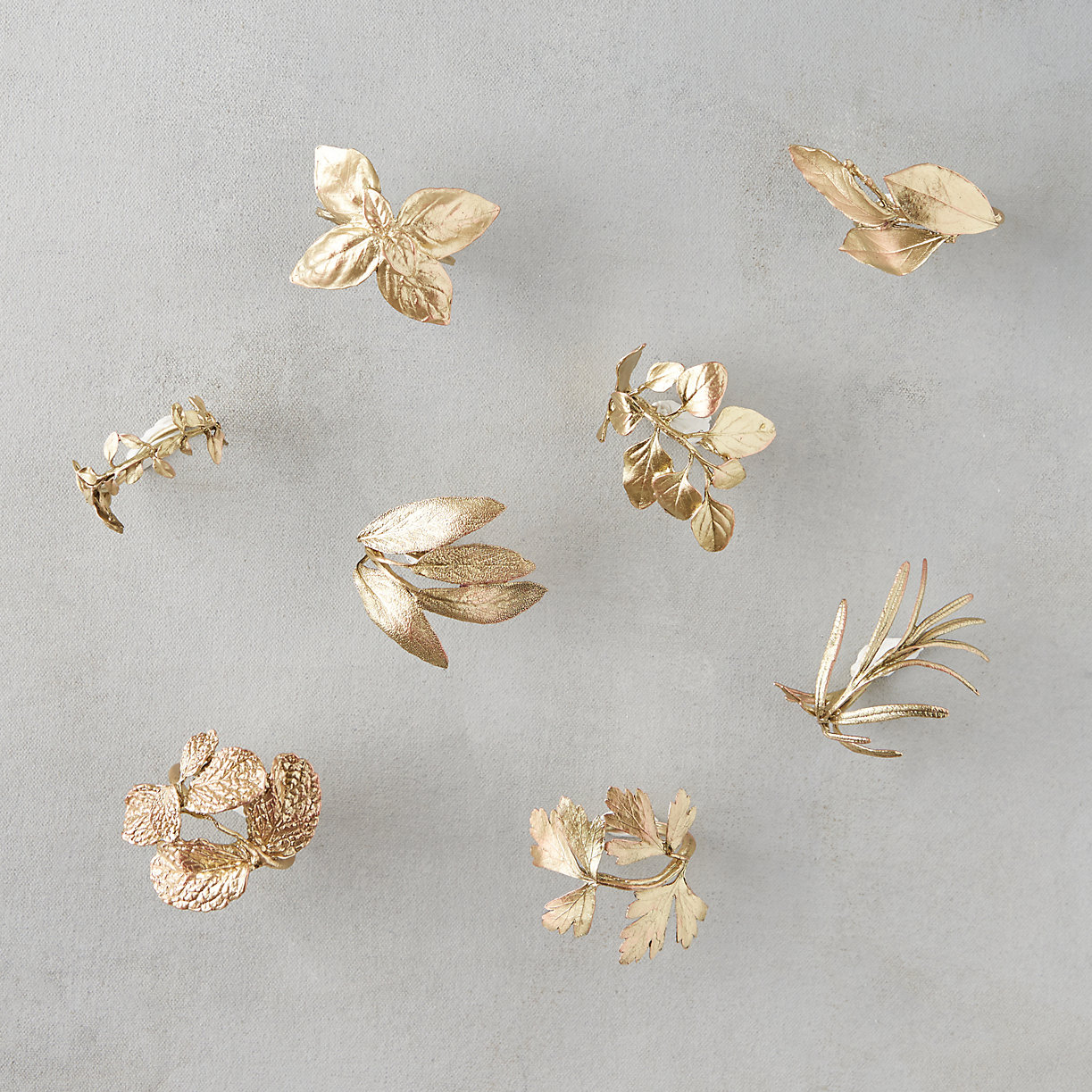 Herb Garden Napkin Rings, Set of 8
