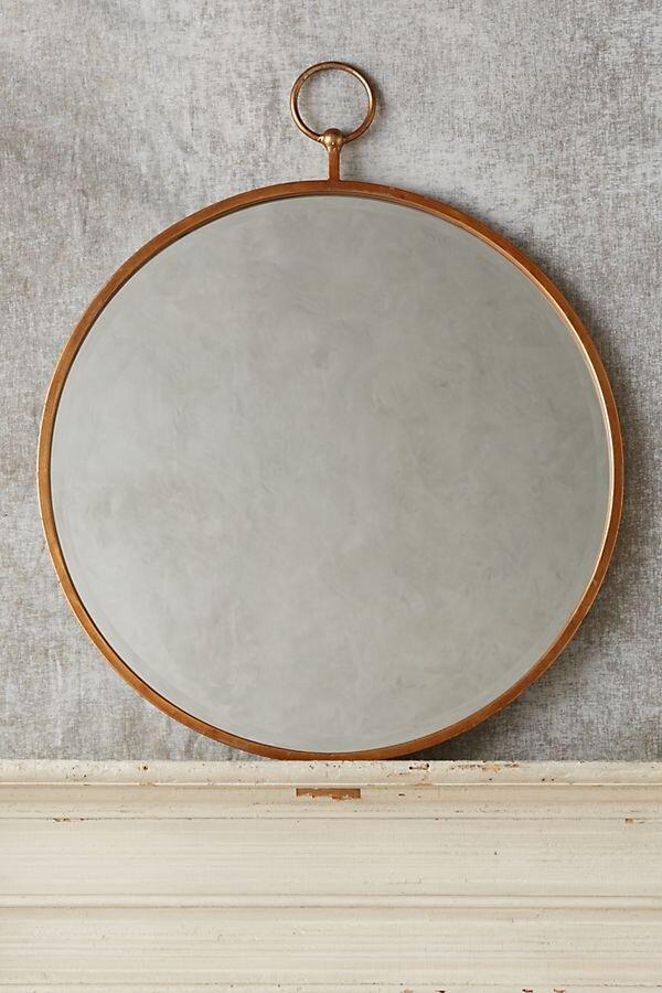 Hoop Mirror rustic bedroom ~ fall bedroom