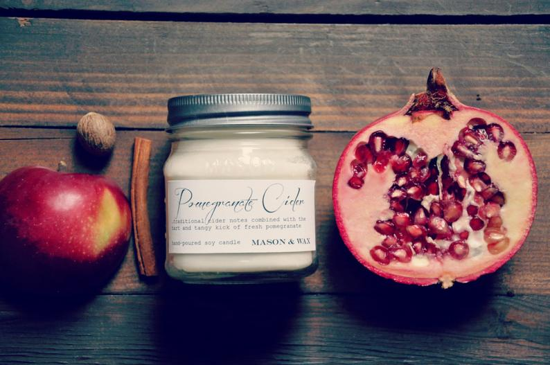 Pomegranate Cider candle rustic bedroom ~ fall bedroom