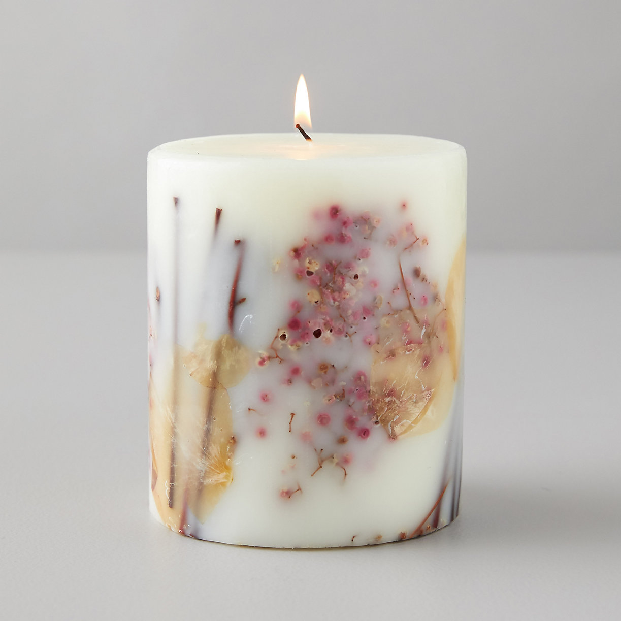 Pressed Botanicals Candle, Apricot Rose