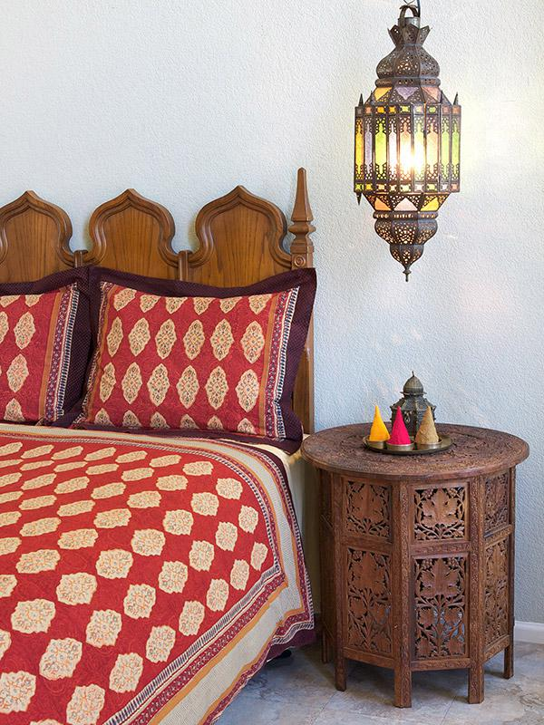 Red Orange Moroccan Indian Pillow Sham