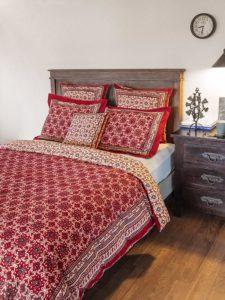 Ruby Kilim ~ Rustic Red Black Lodge Cabin Duvet Cover