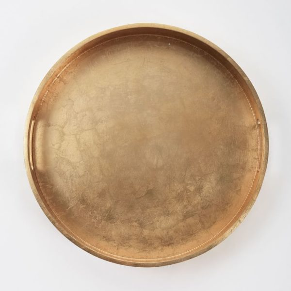 gold tray in glamorous home decor