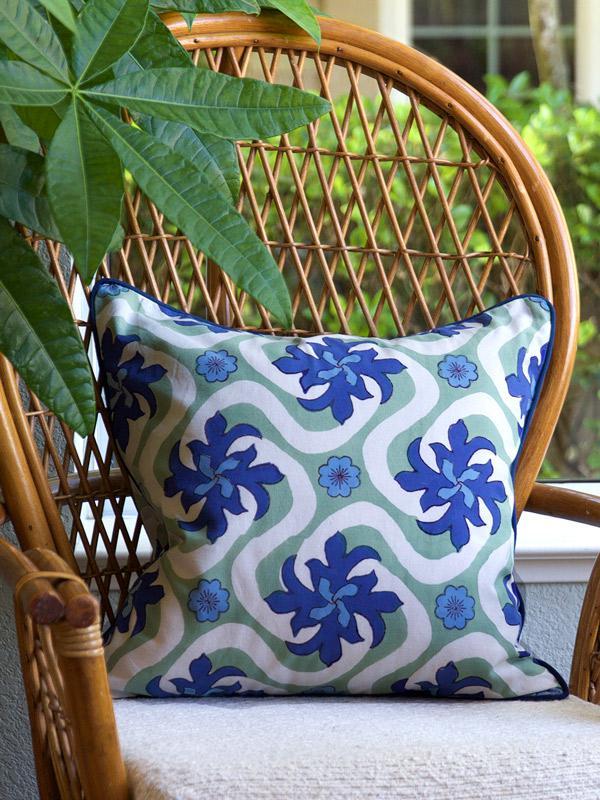 Coastal Currents ~ Ocean Beach Themed Tropical Pillow Cover