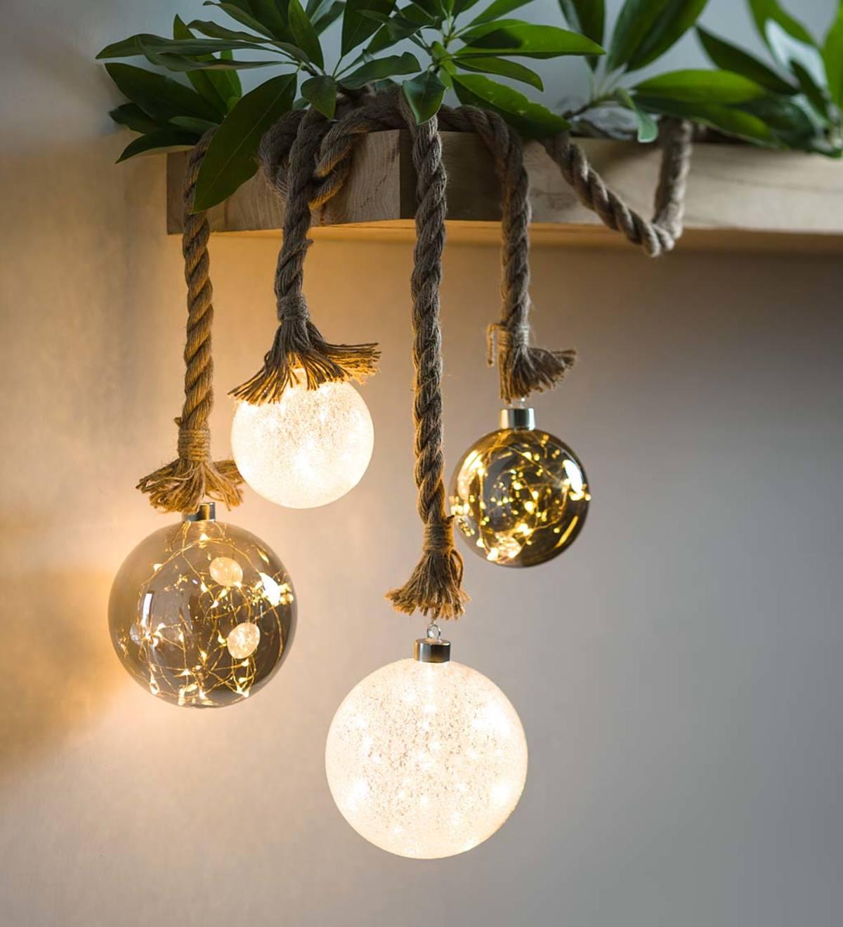 Jute Rope Light Spheres