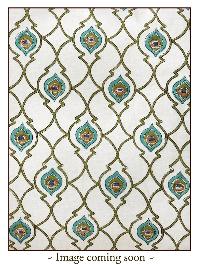 Peacock Feather Print Kitchen Curtain