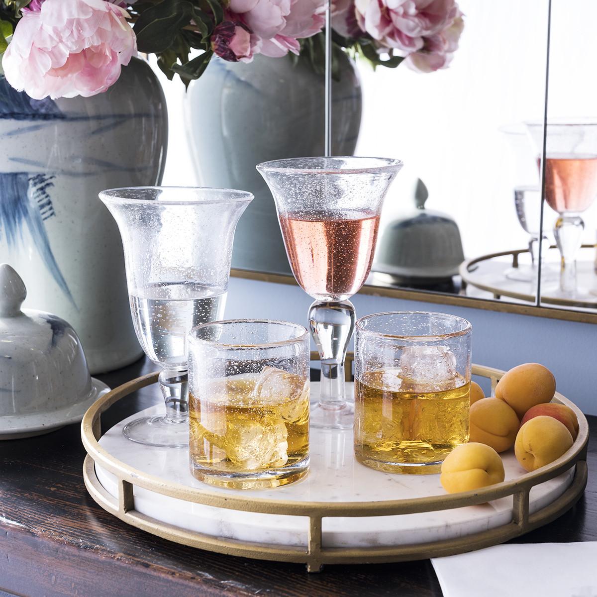 Seeded Wine Glass