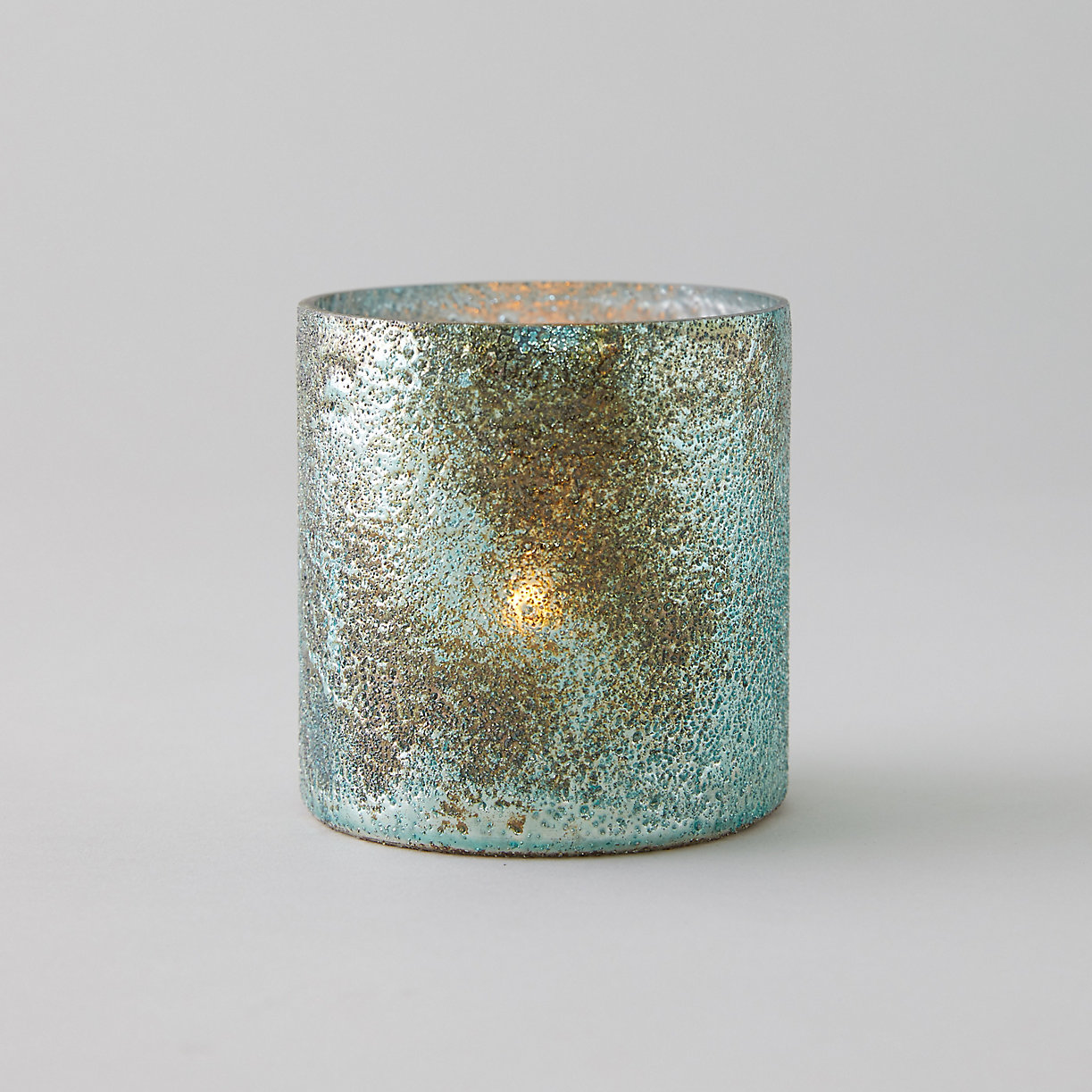 Textured Copper + Turquoise Votive $14.00