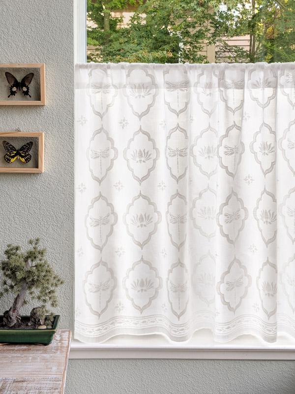 White on White Kitchen Tier Curtain