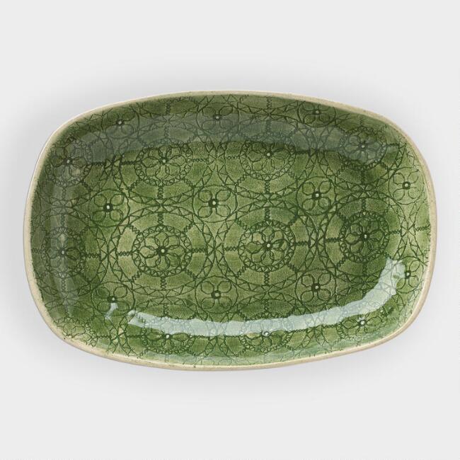 Wonki Ware Medium Green Wheel Snack Plate