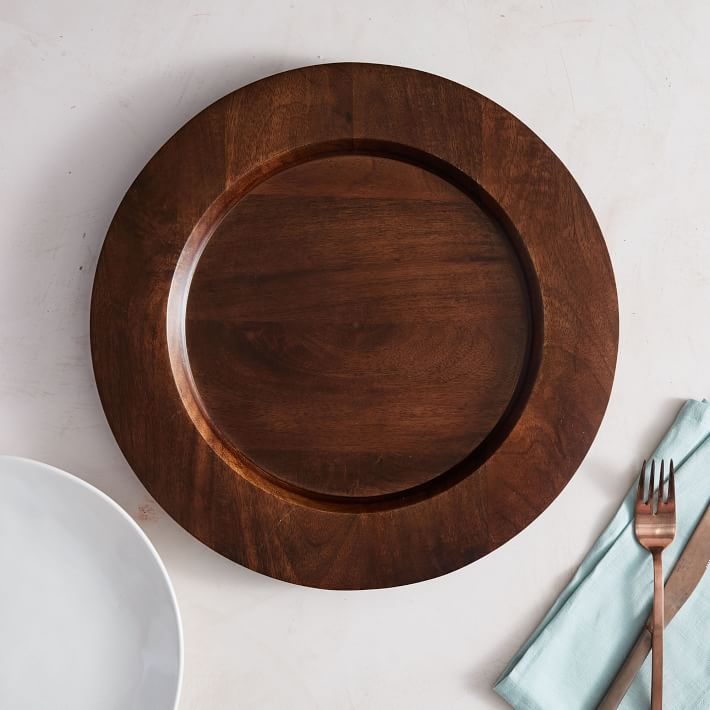 Wood Charger for autumn tablecloth fall table setting