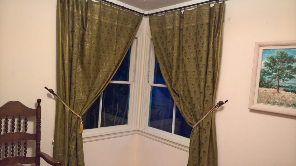 green gold curtain panels, thick curtains