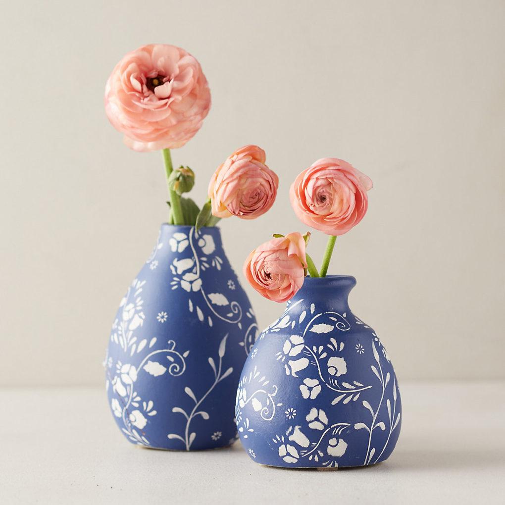 terrain floral ceramic bud vase