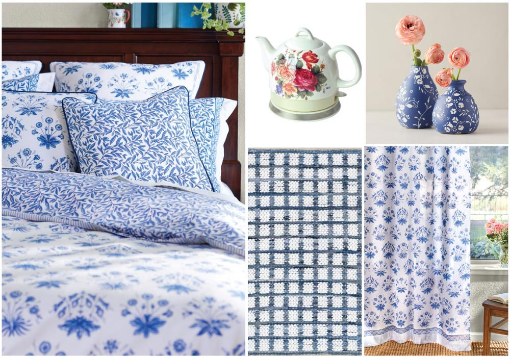 decorating with blue and white cottage style decor collage