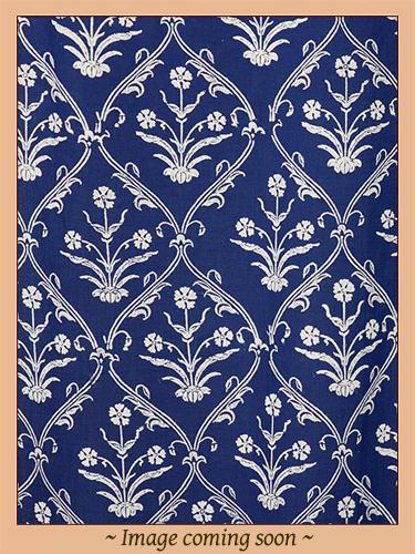 Modern Navy Blue White Paisley Print Pillow Sham