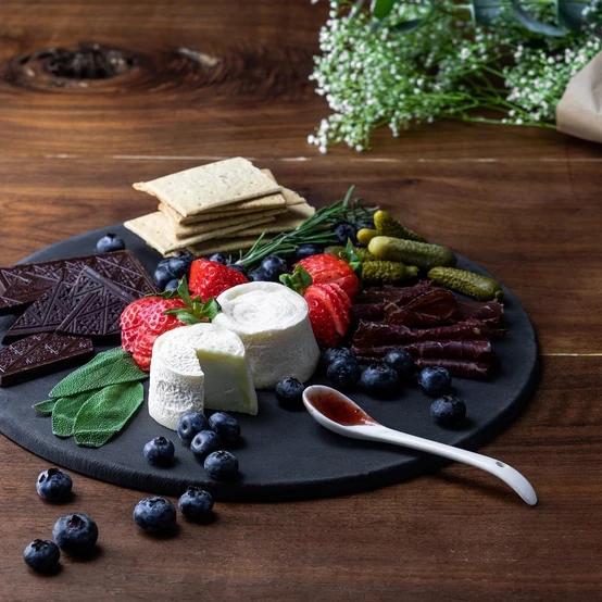 Round Slate Cheese Board