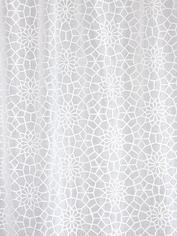 White on White Fabric Swatch with Trellis Print