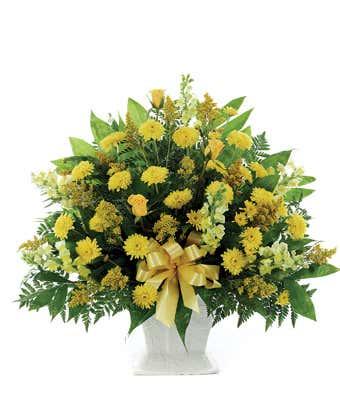 Classic Yellow Mache Bouquet