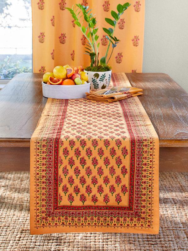 Elegant Orange Table Runner