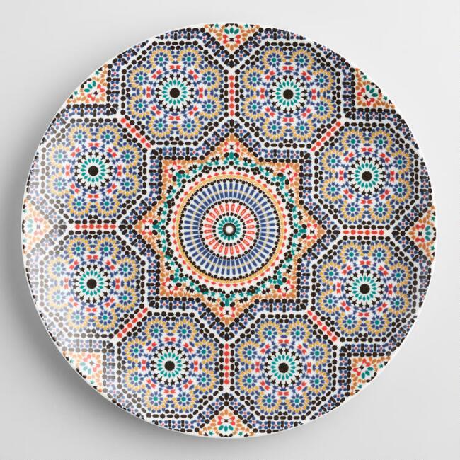 Fez Moroccan Tile Dinner Plates Set Of 4