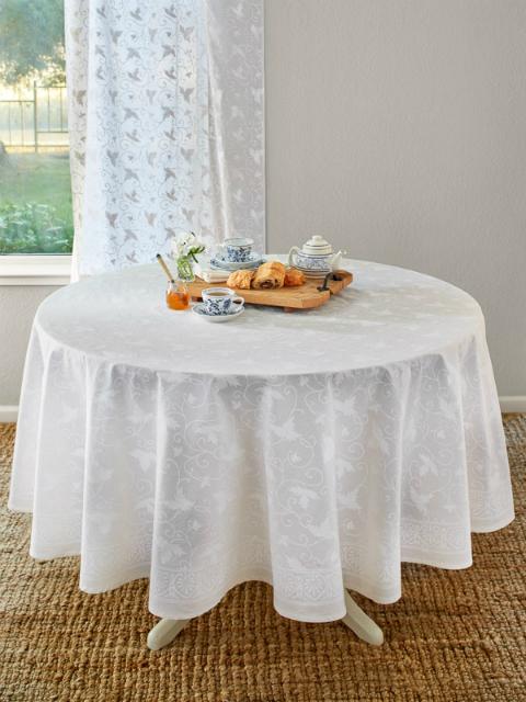 Ivy Lace ~ Elegant White Wedding Round Indian Table cloths