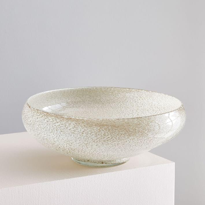 Jade Colored Glass Centerpiece Bowl
