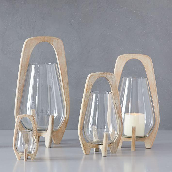 Mid-Century Lanterns - Whitewashed