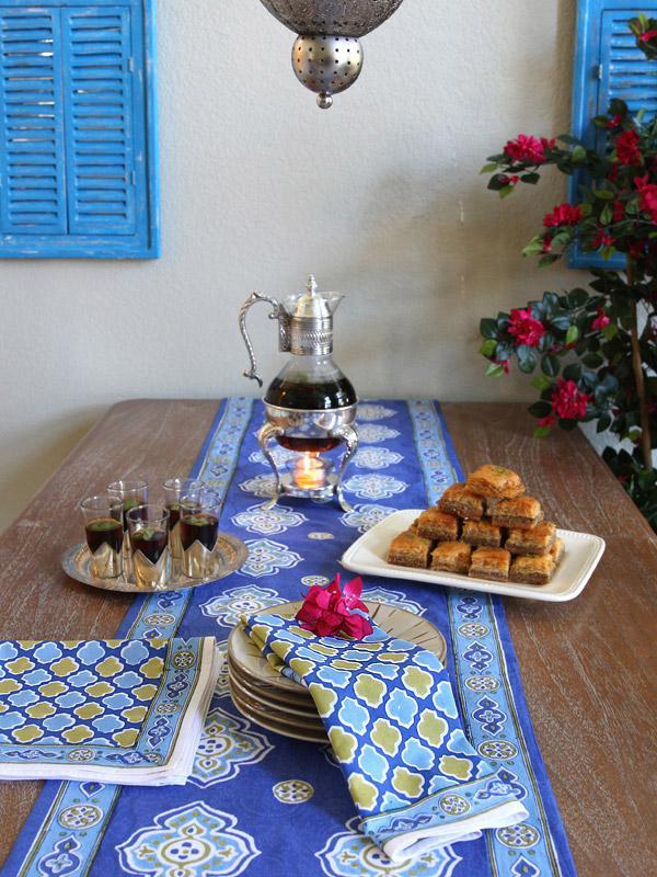 Moroccan Theme Style Quatrefoil Print Napkins