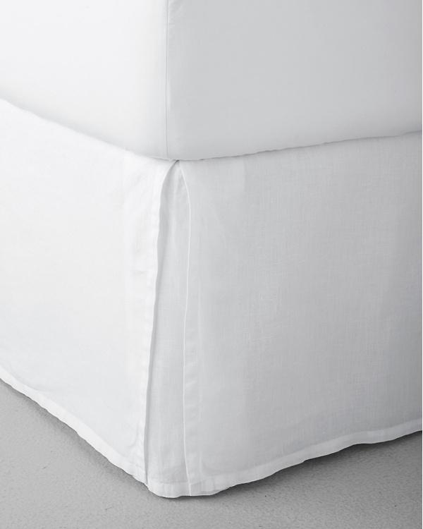 Solid Relaxed-Linen Bedskirt