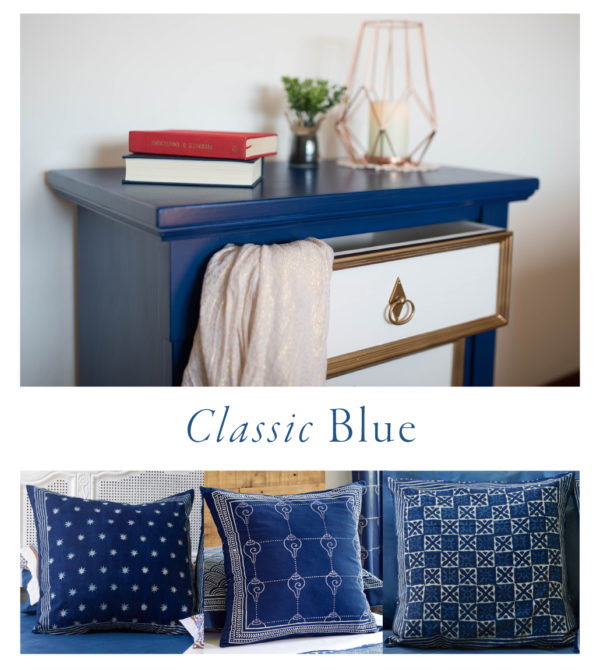 Decorating with blue home decor and blue throw pillows