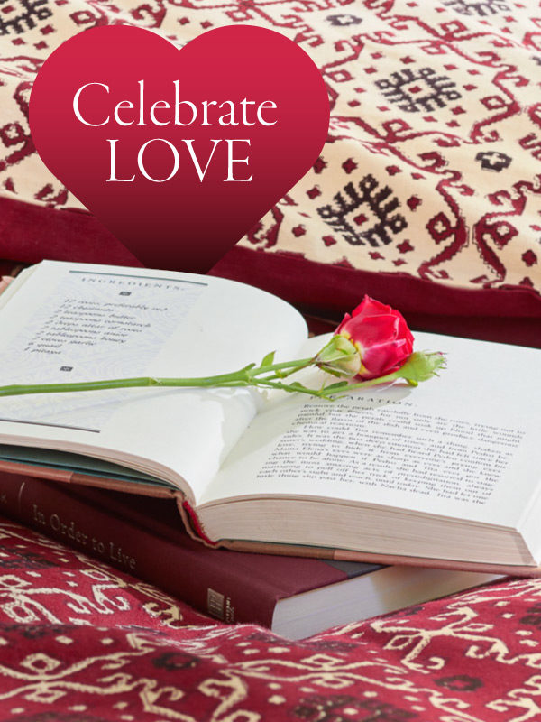 Celebrate love with flowers, romantic bedding, and other Valentine's Day ideas