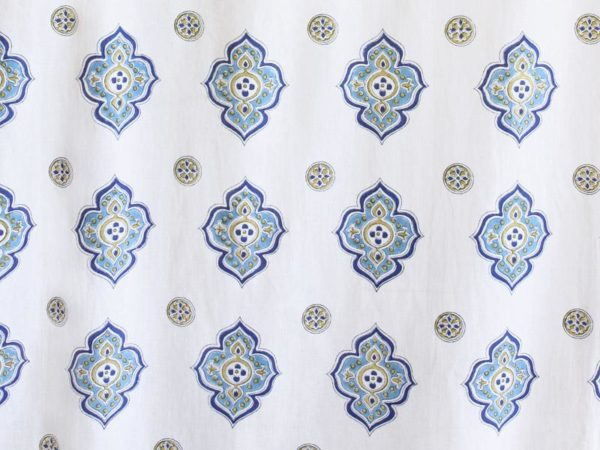Moroccan White Bedding, Curtains & Table Linens