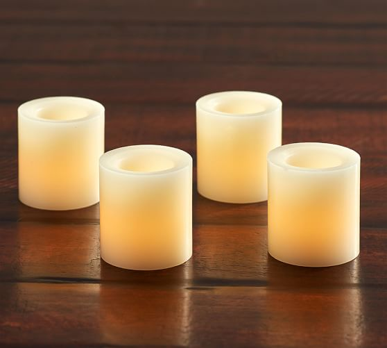 Flameless Wax Votive Candle, Set of 4