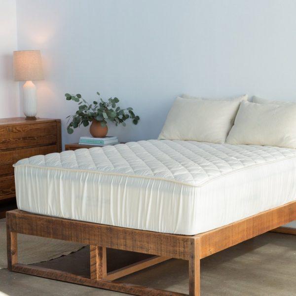 Organic mattress pad protector