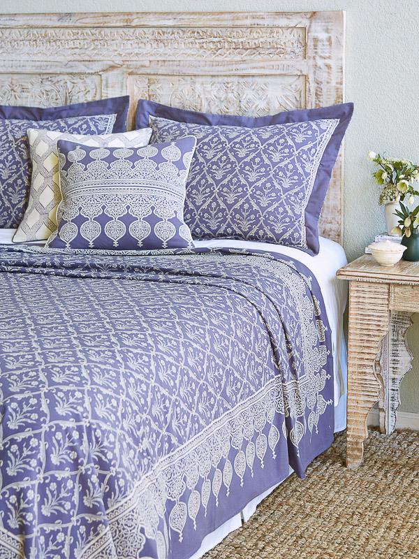 Victorian Lilac ~ Purple Floral Boho Romantic Lavender Bedspread