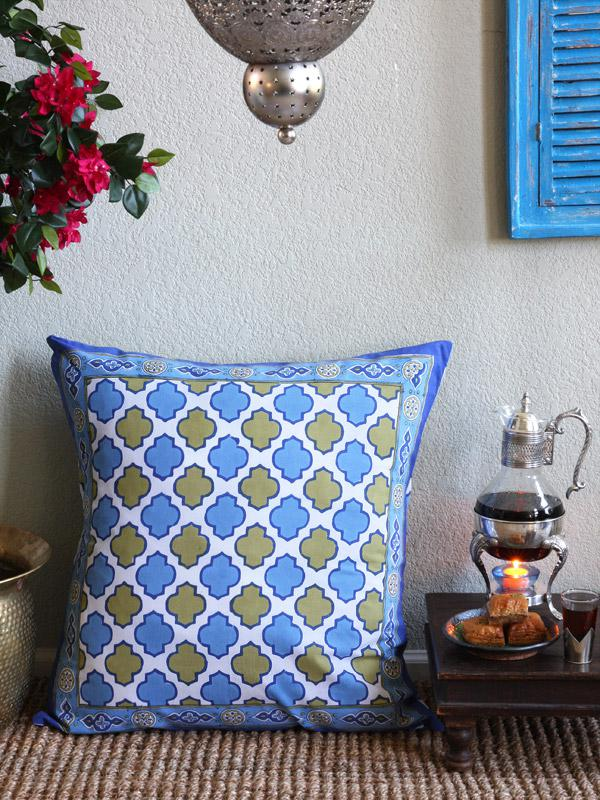 throw pillow in Moroccan pattern