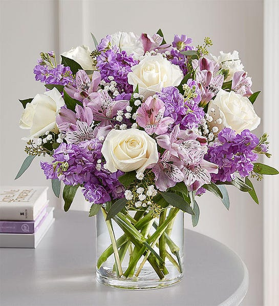 lilac color floral bouquet for Mother's Day