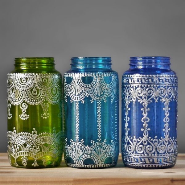 Moroccan vases for Moroccan or boho brunch themes for Mother's Day