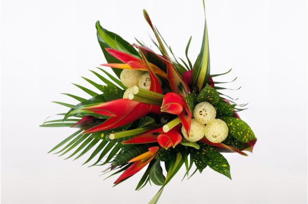 Tropical floral bouquet for mother's day